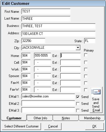 Edit Customer Information
