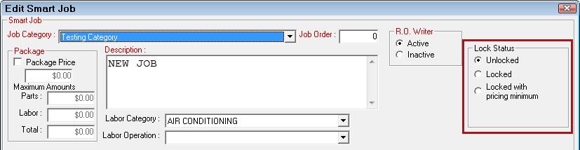 Smart Jobs Configuration