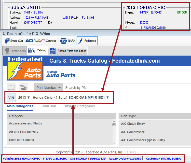 Accessing the Federated Catalog